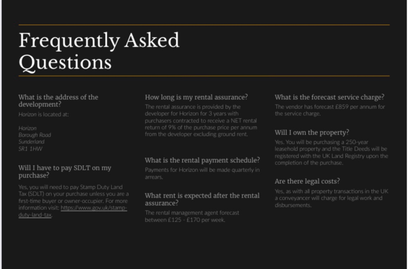FAQ slide